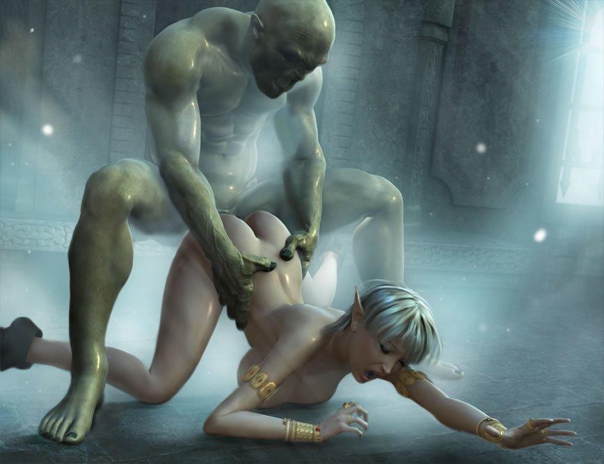 Секс фото с монстрами 3d