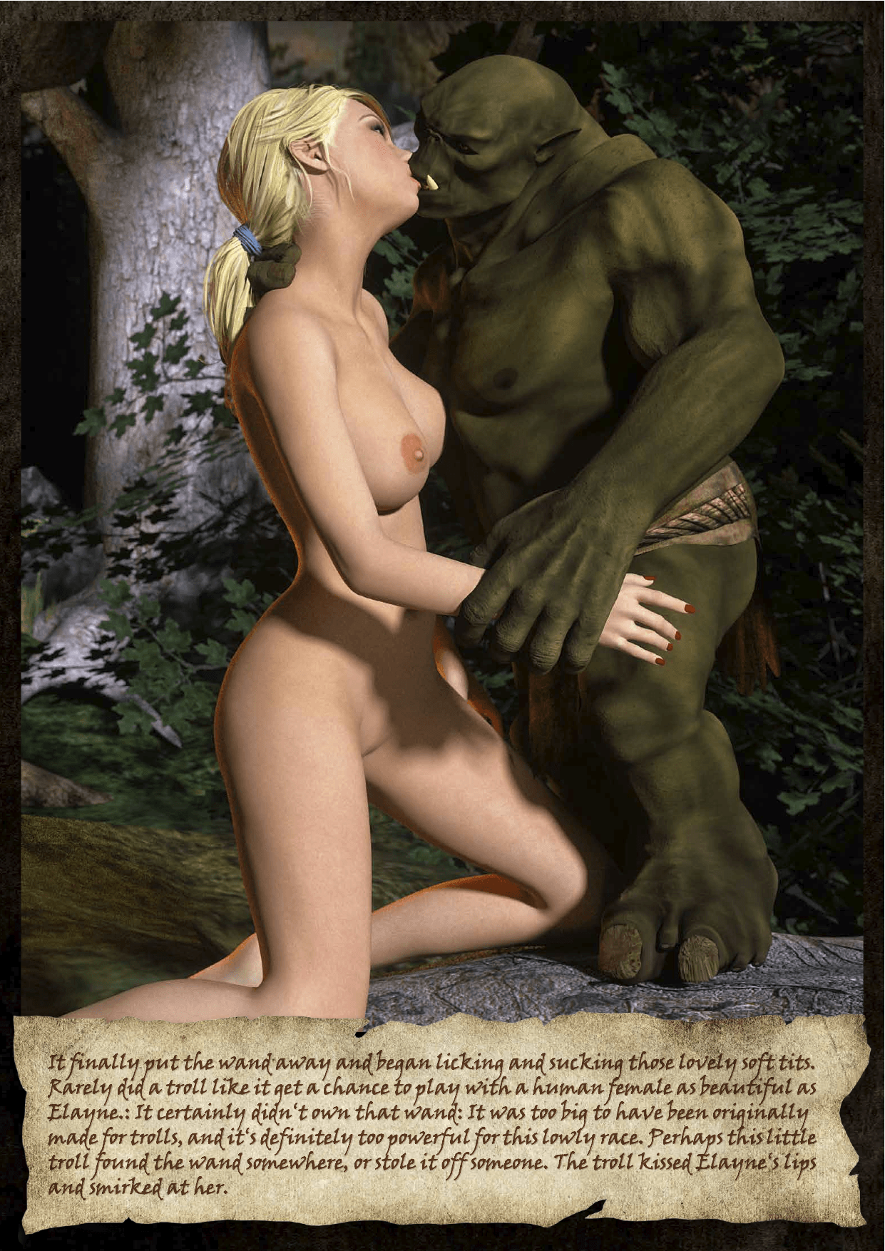 Sample of Knight Elayne: Dark Eyes in the Forest. Art by Hibbli, Story by Lady Adara. Available at the Affect3D Store.