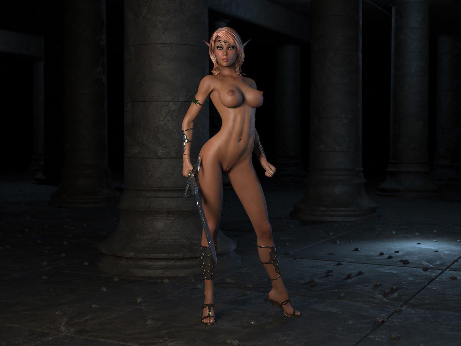 Naked elves porn sexy scene
