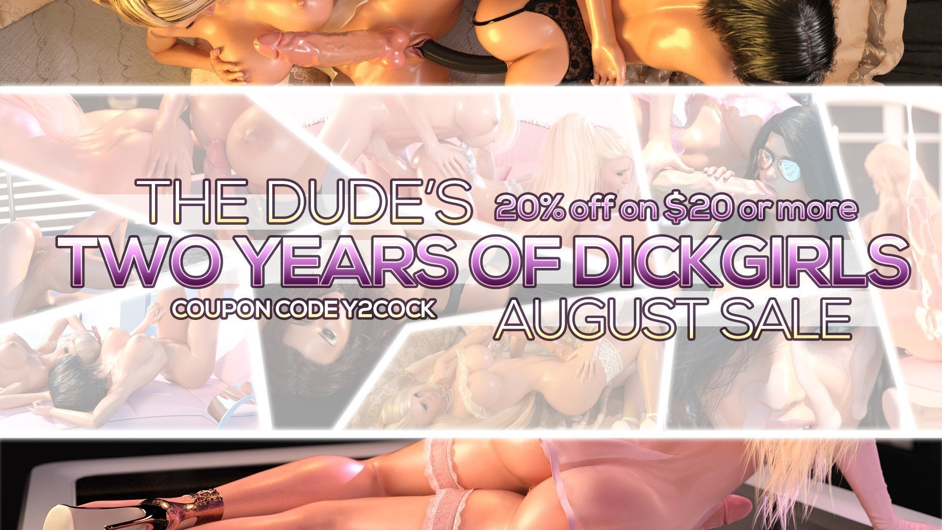 TheDude3DX's Two Years of Dickgirls Sale