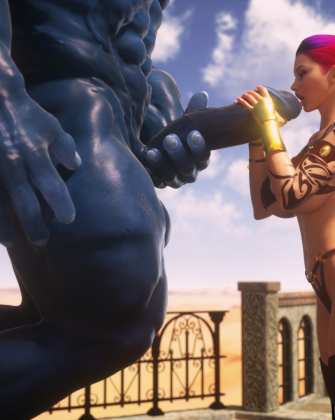 Krissy and the Minotaur by Intrigue3D (Supro)