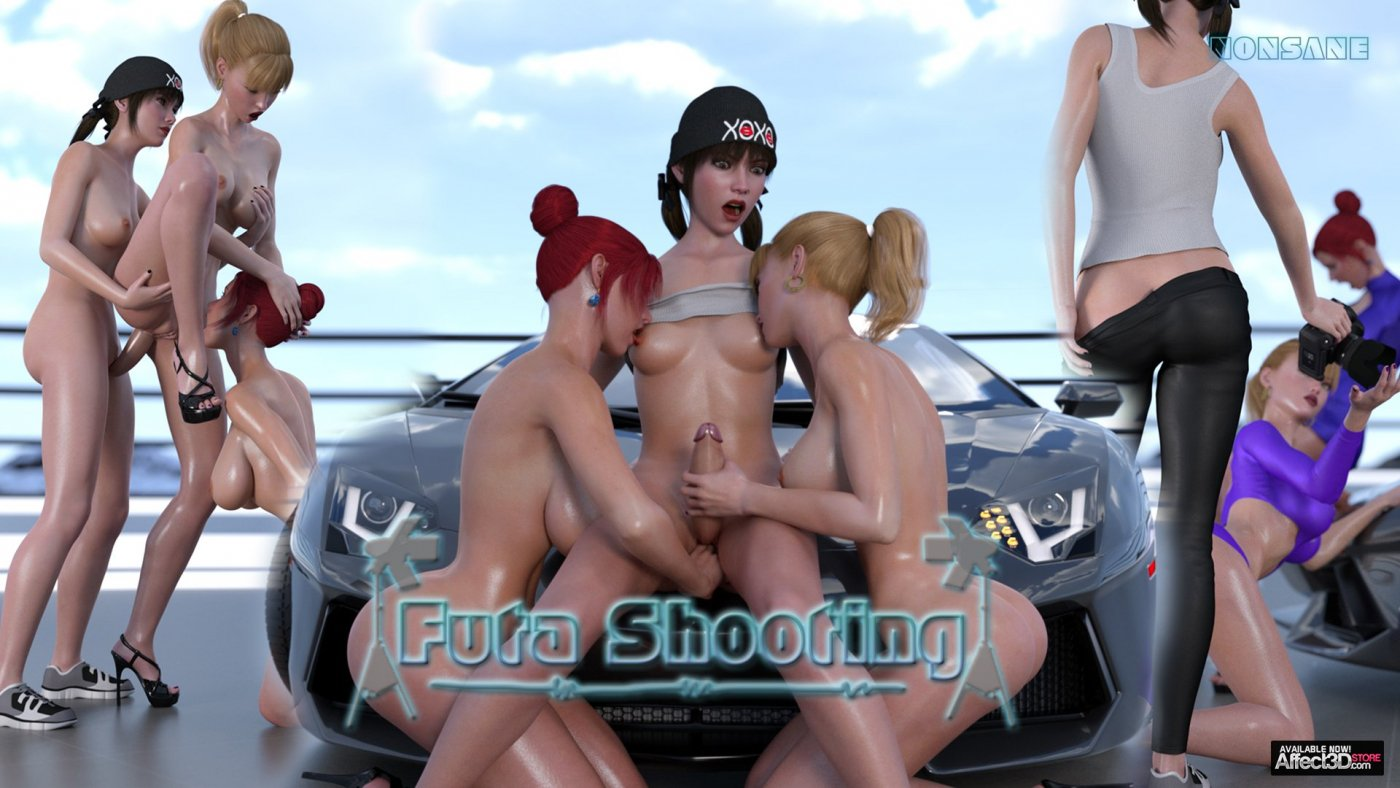 Futashooting pairs one dickgirl photographer with two hot models