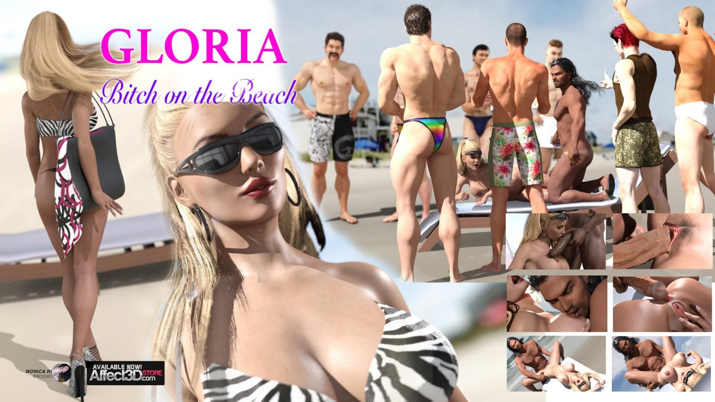 Exhibitionist gets fucked on the beach in Gloria – Bitch on the Beach #1!