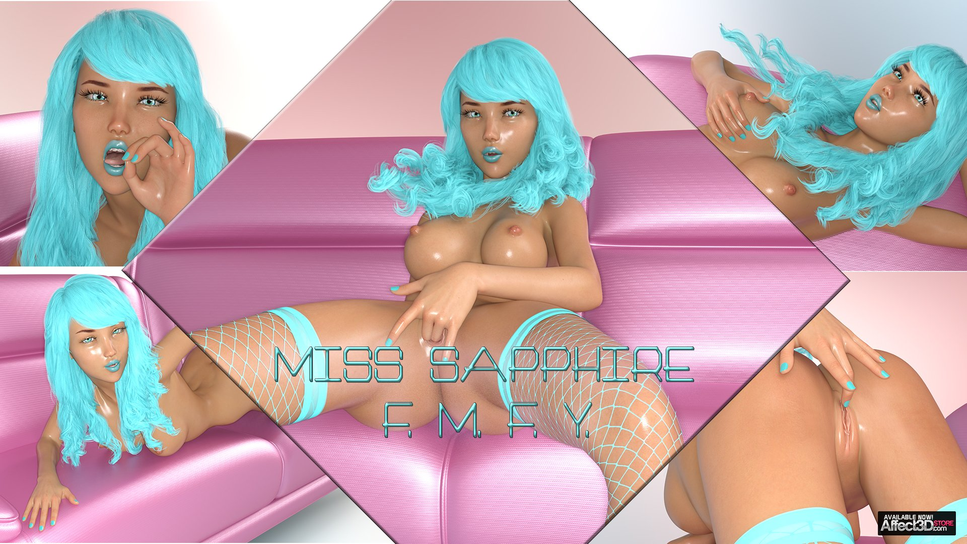 New animated release: Miss Sapphire, Fucking Myself For You! Watch the trailer!