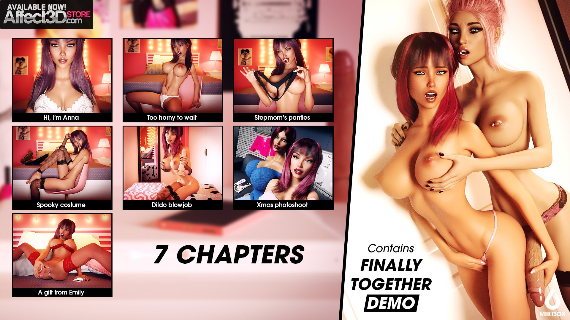 New Release from Miki3DX: Finally Together plus FREE visual novel, Anna
