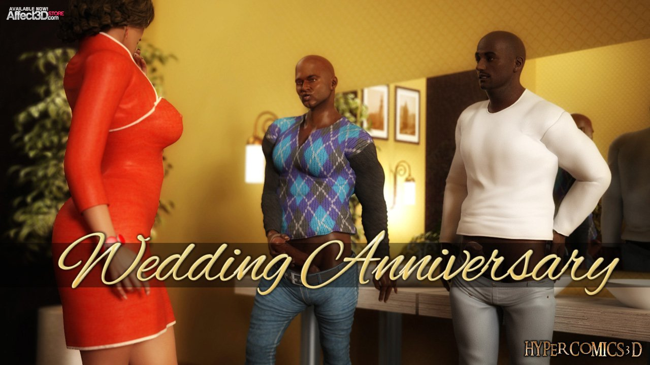 Wedding Anniversary, or making a Cuckold with two big black cocks! Watch the trailer!