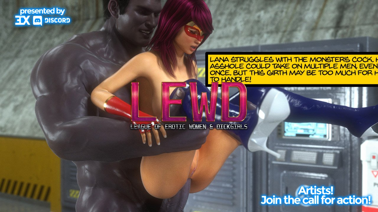 Charity Event! 3DX Discord Presents L.E.W.D.: The League of Erotic Women and Dickgirls!