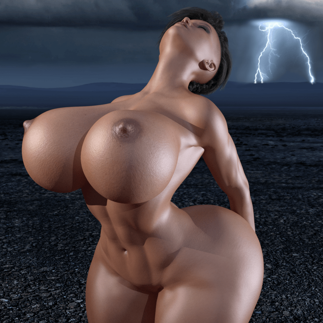 Big Butts Only Huge Busts Could Match – Stormy Night by cjflo