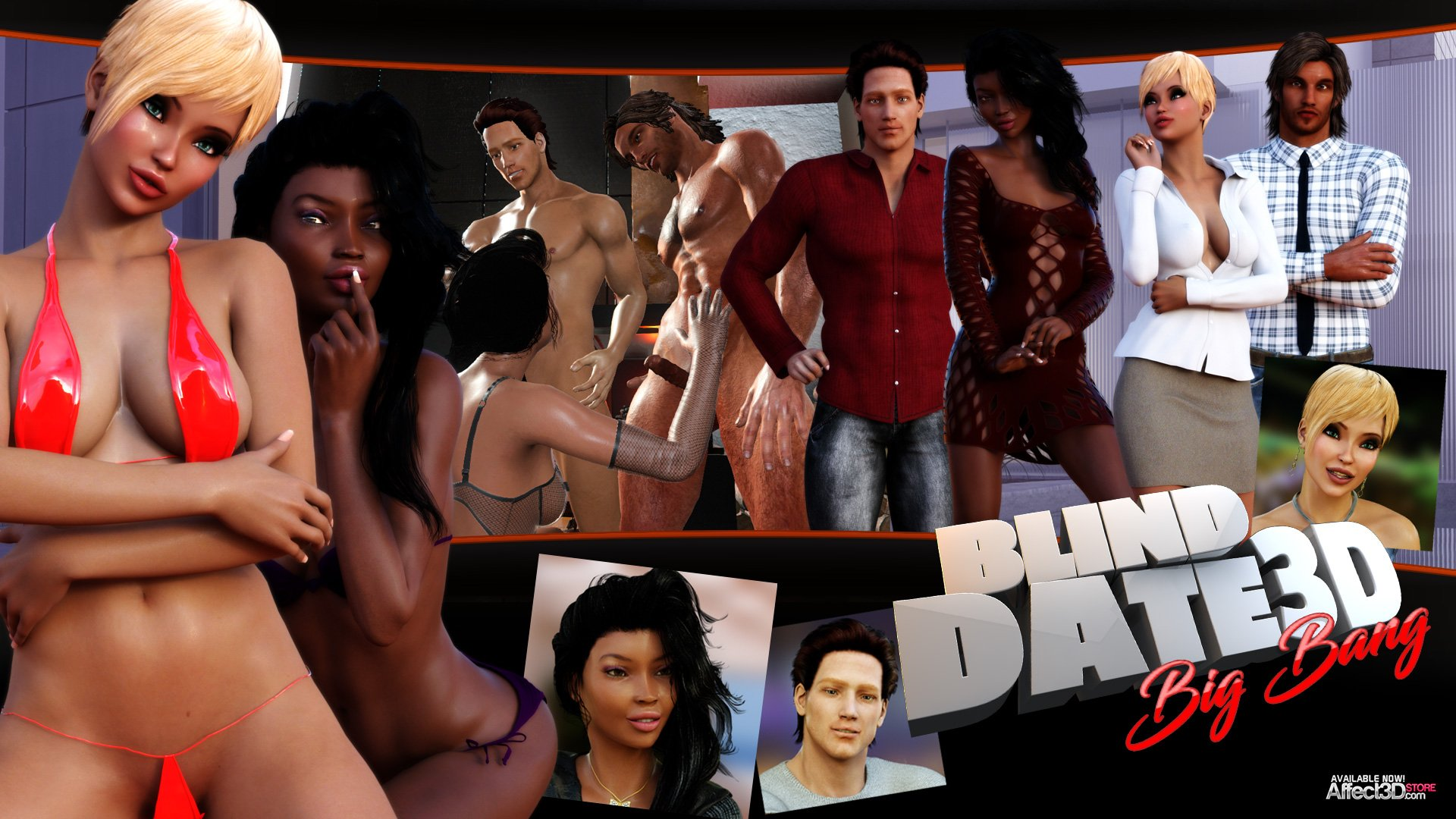 Blind Date 3D Big Bang – Sex Game from Lesson of Passion!