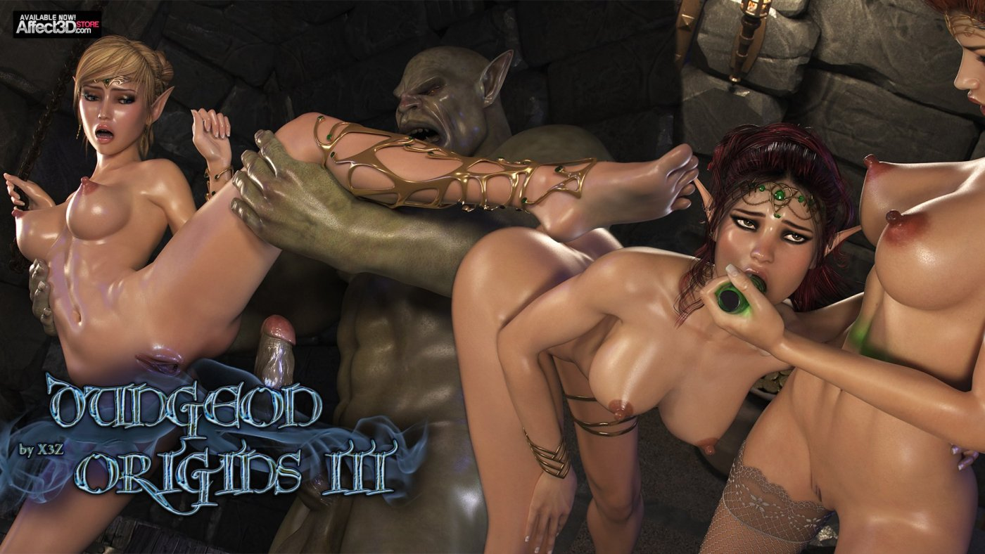 X3Z, the master of 3D Elf Porn returns with Dungeon Origins 3
