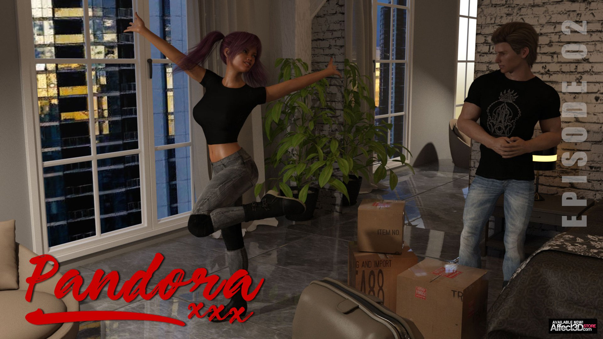New from Sexy3DComics! Pandora: Episode One and Two! FREE Download!