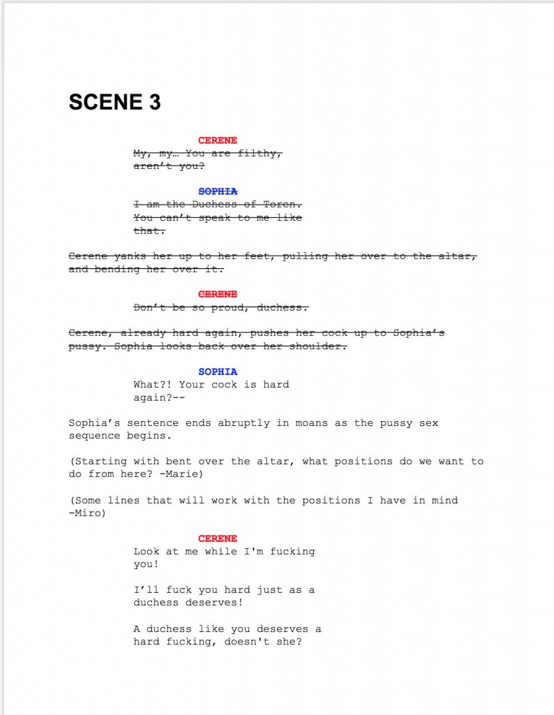 Screenshot of Bloodlust: Cerene - Royal Descent Script