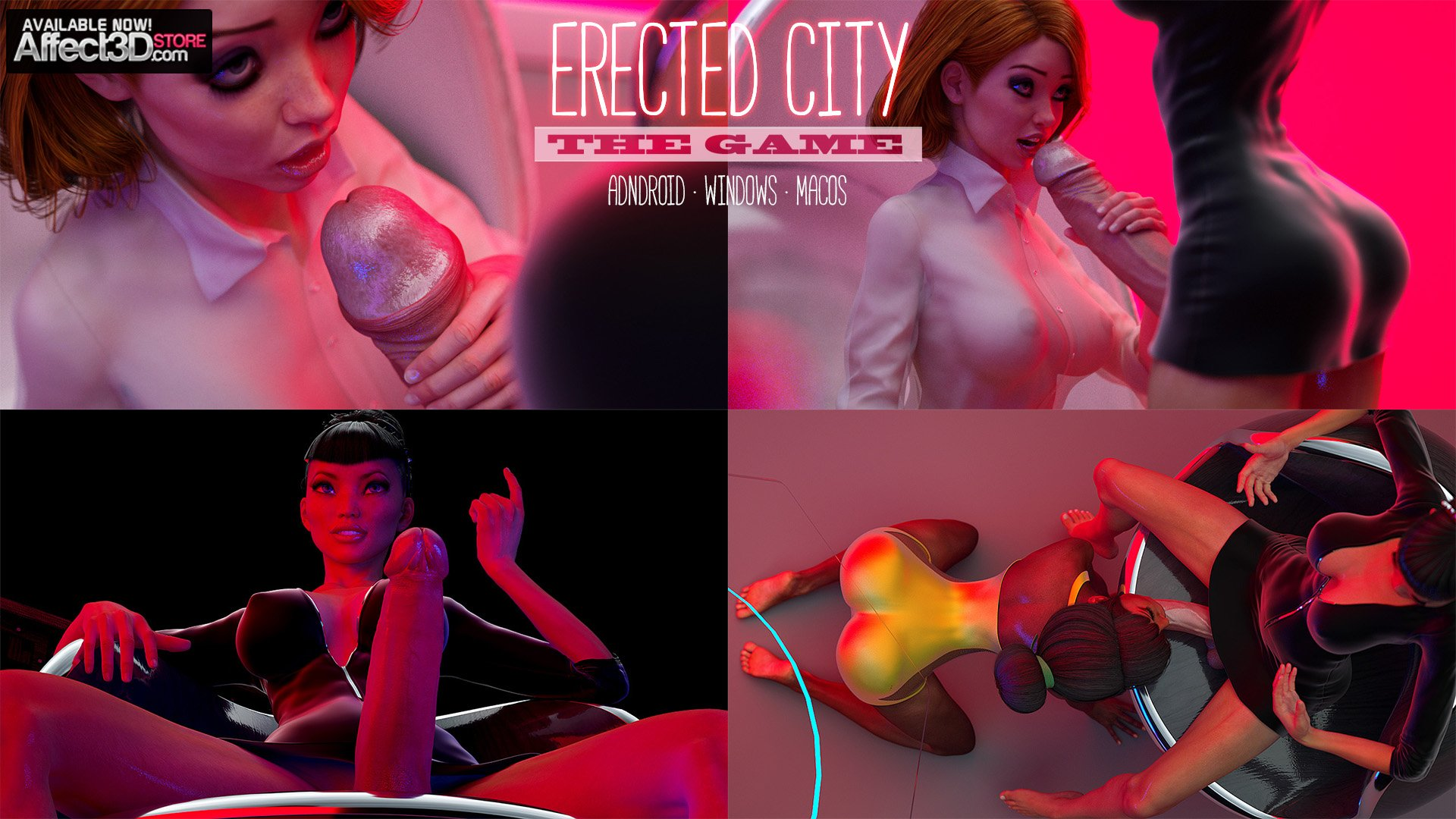 Erected City The Game! Play Smerinka's First 3D Porn Game!