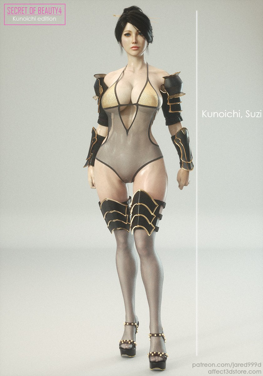 Story and Concept Art Behind Secret of Beauty 4 Kunoichi Edition