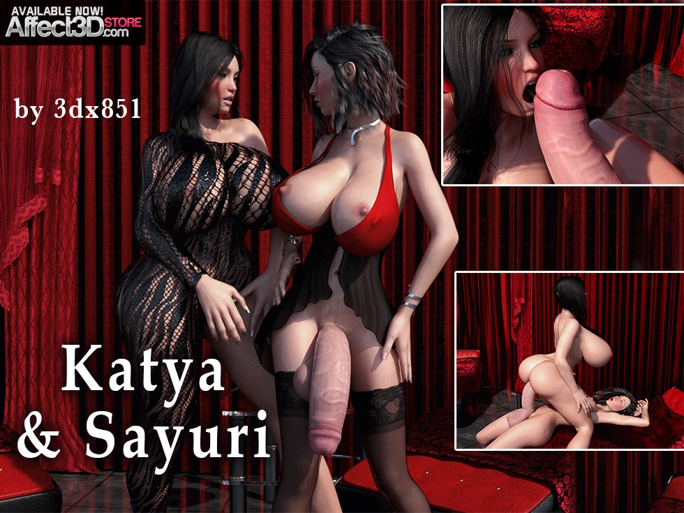 Sayuri Makes Her Thick-Dicked Debut! New Futanari Set from 3DX851