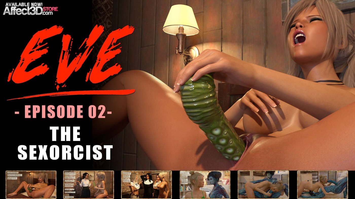 Eve's Demon Cock Addiction Continues in Eve Episode 2: The Sexorcism!