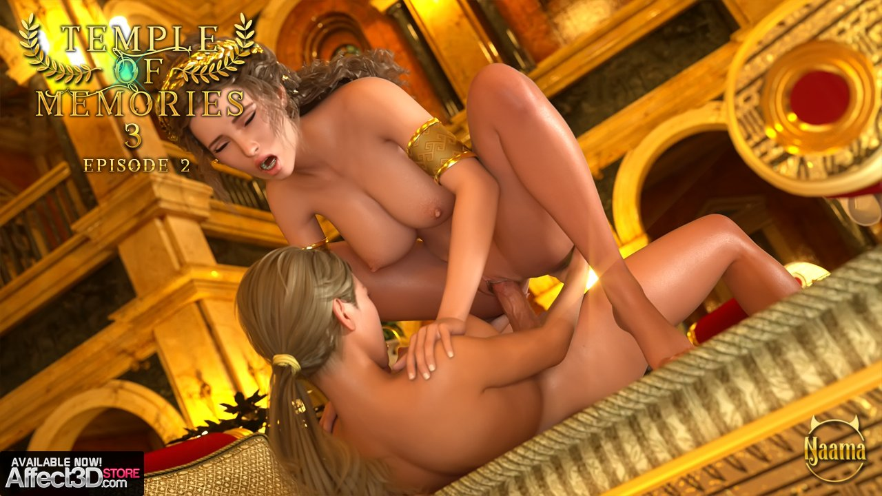 The Untold Futanari of Ancient Rome Return in Naama's Temple of Memories 3 Episode 2!