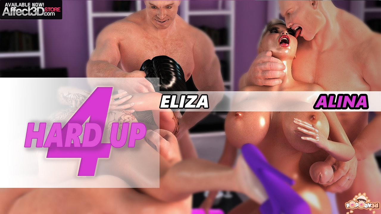 Hard Up 4 – Dicks Out for 5-Way Orgy! by Poporn3D