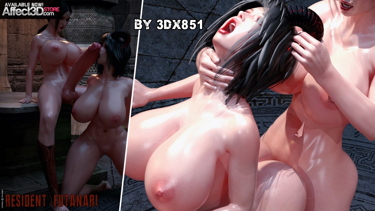 Threesome Demon Fuck – Resident Futanari by 3DX851