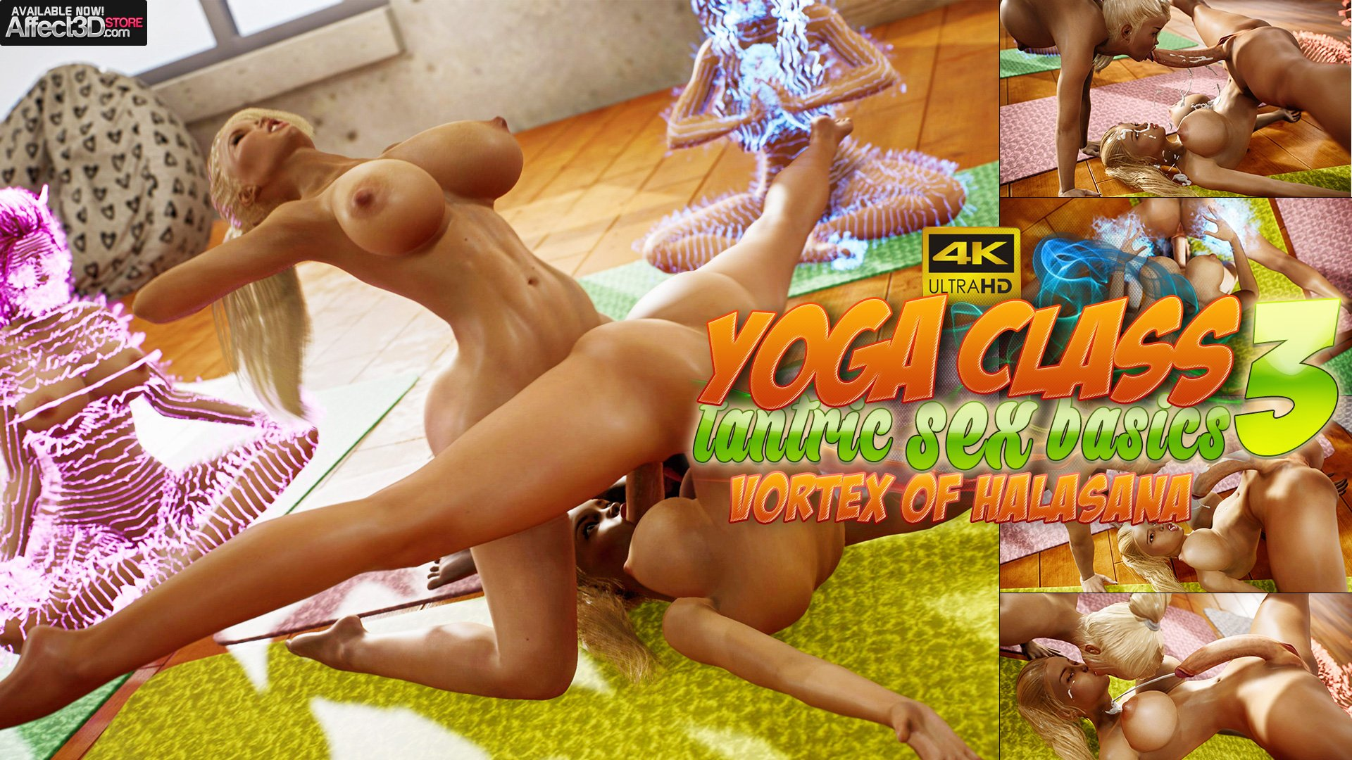 New from Futanarica! Yoga Class – Tantric Sex Basics 3! Watch The Trailer!