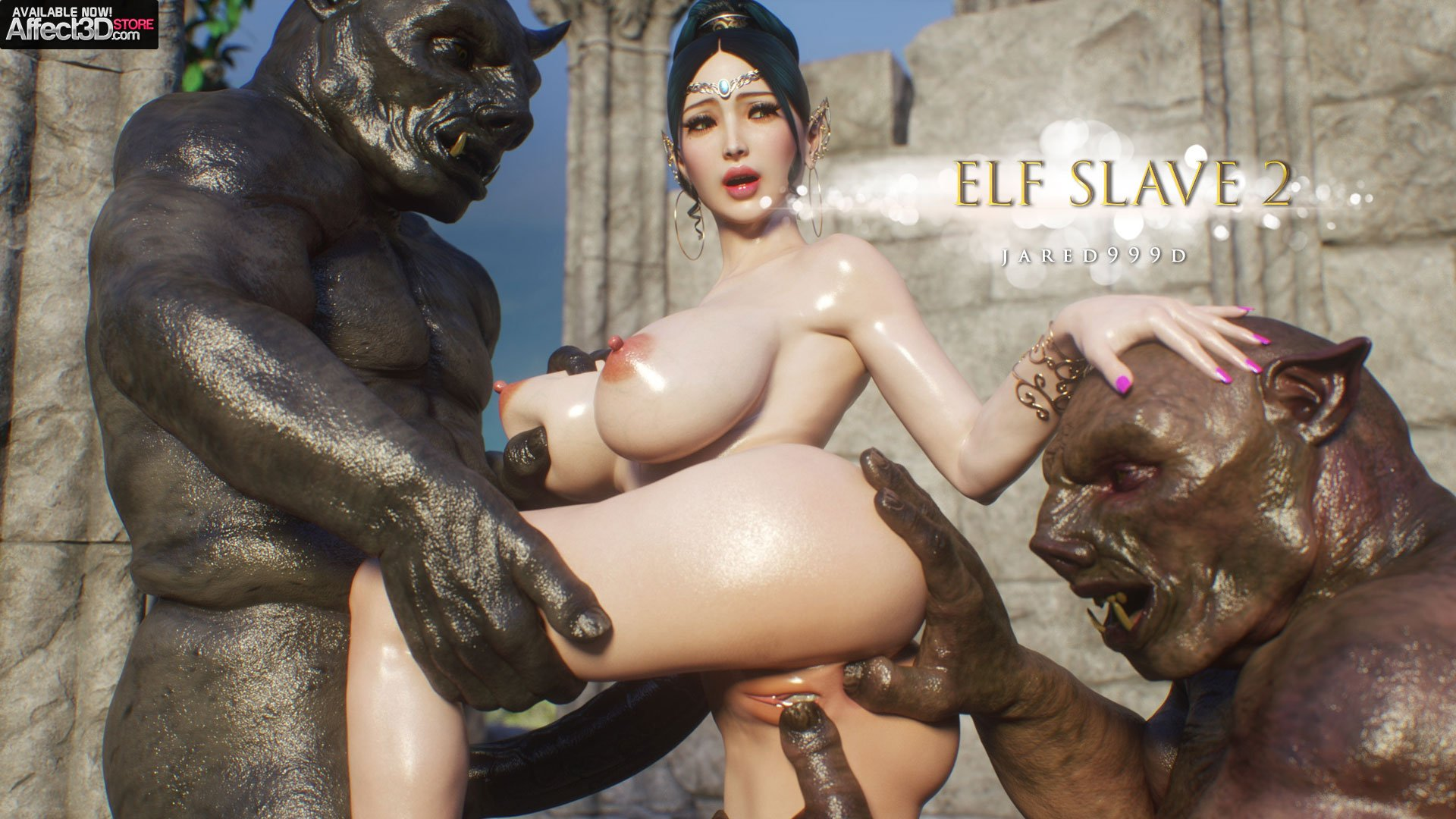 The master of monster sex, Jared999D, returns with Elf Slave 6: Love and Lust!
