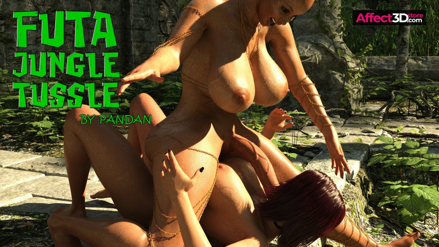 Rumble in the jungle and one hot futa in Pandan's Futa Jungle Tussle!